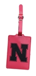 Suede Laser Engraved Nebraska Luggage Tag
