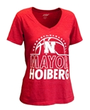 Ladies The Mayor Nebraska Basketball Tee