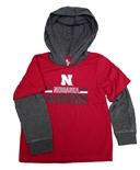 Toddler 2fer Nebraska Huskers Hooded Tee