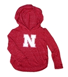 Toddler Girls Huskers Animal LS Hooded Tee