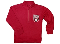 Toddler Huskers Quarter Zip Sweat