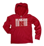 Toddler Huskers Repeat LS Jersey Hoodie