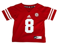 Toddler Nebraska 8 Red Jersey