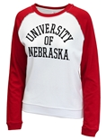 University of Nebraska Ladies Raglan Terry Crew Sweat