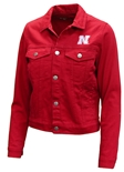 Womens Antigua Huskers Jean Jacket