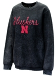 Womens Huskers Corded Comfy Crew