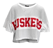 Womens Cropped Huskers Spirit Jersey