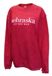 Womens Go Big Red Corded Comfy Crew