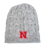 Womens Husker Campfire Cable Knit Beanie