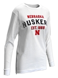 Womens Huskers Established LS Zip Tee