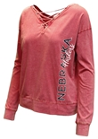 Womens Huskers Huzzah Two Way LS Tee