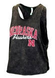 Womens Huskers Mineral Washed Muscle Tee