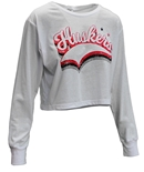 Womens Huskers Success LS Crop Tee