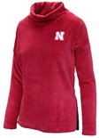 Womens Huskers Velour Cowl Neck