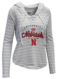 Womens NU Lace Up Terry Hoodie