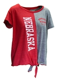 Womens Nebraska Billie Split Top