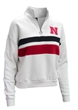 Womens Nebraska Cream Quarter Zip