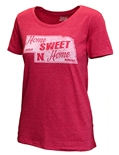 Womens Nebraska Home Sweet Home Tee