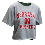 Womens Nebraska Huskers Mallam Crop Top