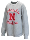 Womens Nebraska Julie Corded Crew