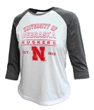 Womens Nebraska Mix Raglan