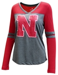 Womens Nebraska Surely LS Tee
