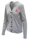 Womens Nebraska Triblend Cardigan
