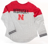 Youth Gals Nebraska Baton Tee