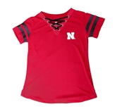 Youth Girls Lace Up Husker Tee