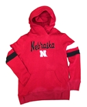 Youth Girls Overlay Fame Nebraska Hoodie