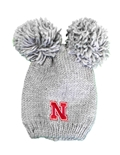 Youth Nebraska Double Pom Knit
