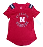 Youth Nebraska Girls Foil Retro Tee