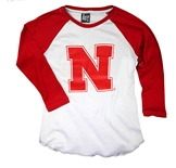 Youth Nebraska N Baseball Tee