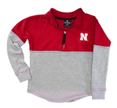 Youth Nebraska Rhinestone Half Zip Pullover