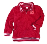 Youth Nebraska Sherpa Quarter Zip Jacket