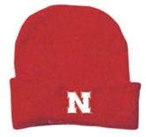 Nebraska Newborn Red Knit Cap